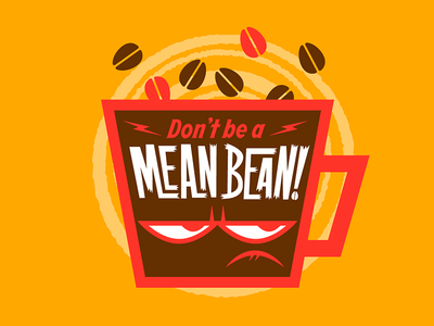 Mean Bean branding vector coffee