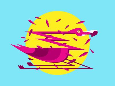 Flamingo On Drugs punk emo bird of prey animal drugs flamingo