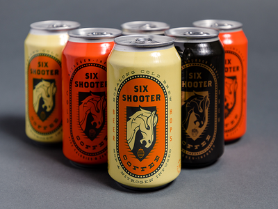 Six Shooter Coffee Packaging animal horse branding packaging coffee cold brew