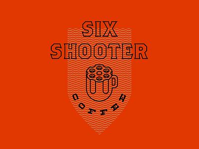 Six Shooter Coffee Logo coffee identity branding logo mug gun
