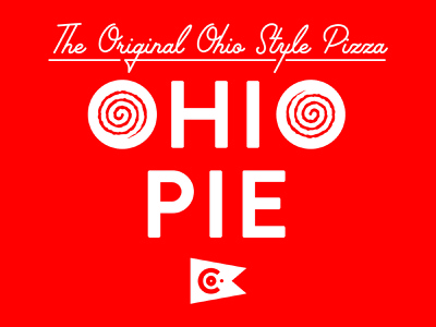 Ohio Style Pizza flag lettering type branding food pizza