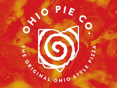 Ohio Pie Co. ohio state ohio swirl branding food pizza