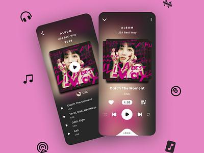 Music Player App music player music mobile ui mobile app design ux ui