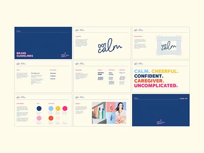 Dot Calm I Brand Guidelines visual design graphic design branding logo