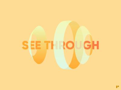 See Through minimal icon vector illustration logo