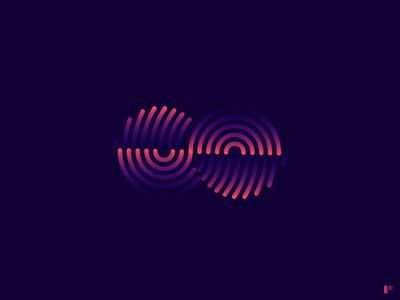 Finite icon flat minimal vector illustration logo