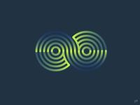 Finite V2 icon flat vector minimal illustration logo