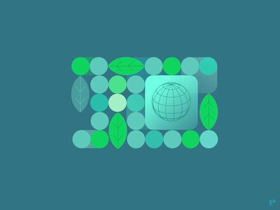 Eco-System icon flat minimal vector illustration logo