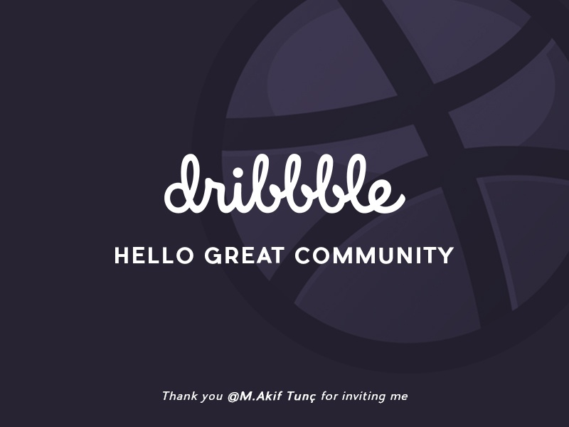 Hello Dribbble thanks hello first debut