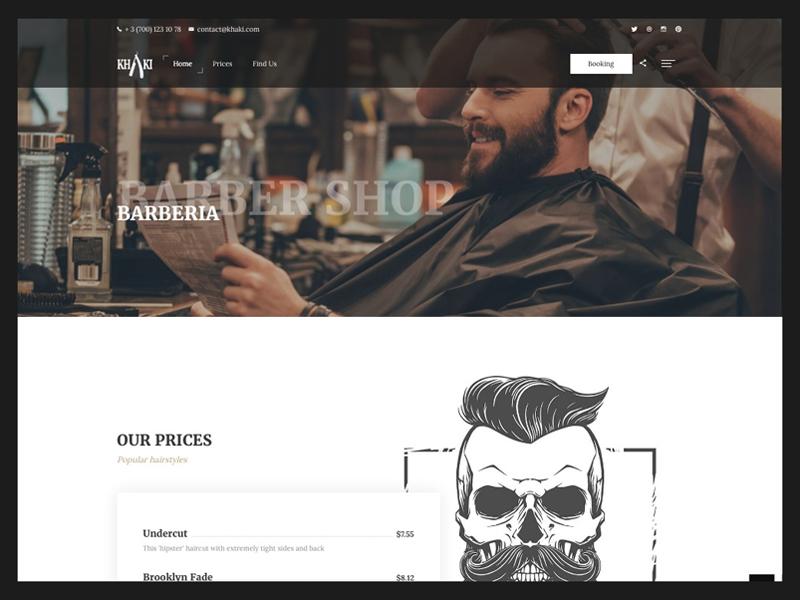 Bootstrap 4 Template - Khaki template html bootstrap 4 barber multipurpose