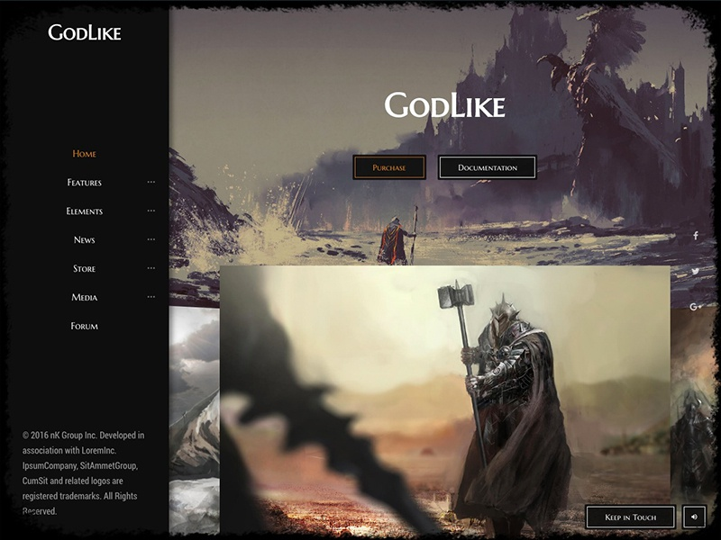 GodLike | The Game Template themeforest community forum blog store gaming bootstrap template game