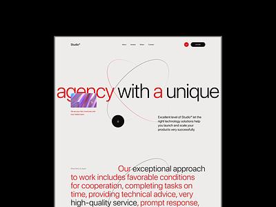 Studio - Creative Agency Website ✨ ux homepage digital agency digitalmarketing design seo servise typography landing page interaction ui animation webdesign creative studio