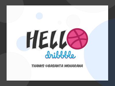 Hello dribbble thanks debut hello dribble hello debut shot
