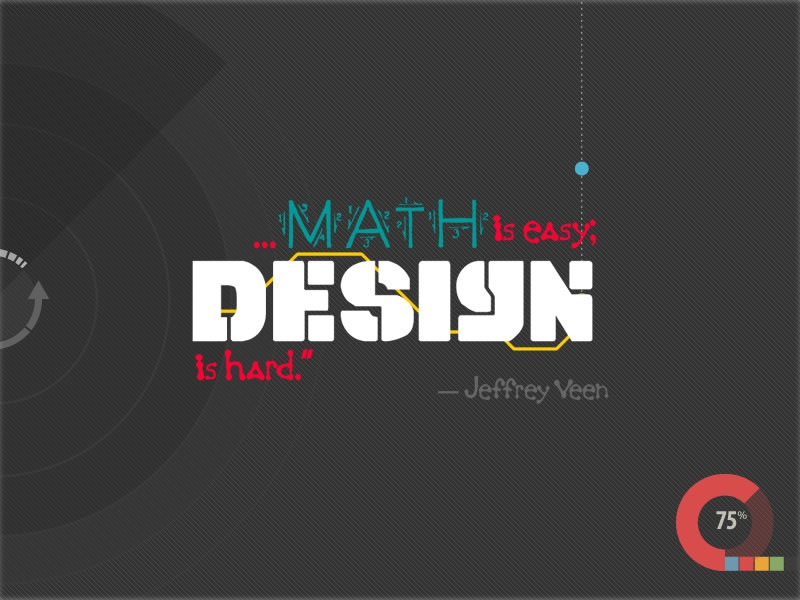 _math_is_easy quote poster design math