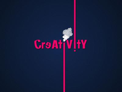 Creativity typography design creativity