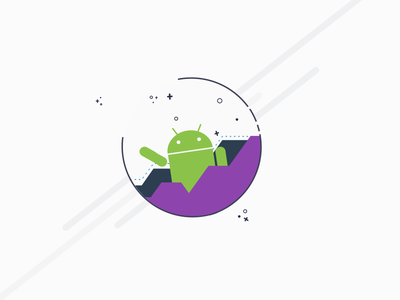 Android Moon logo design android