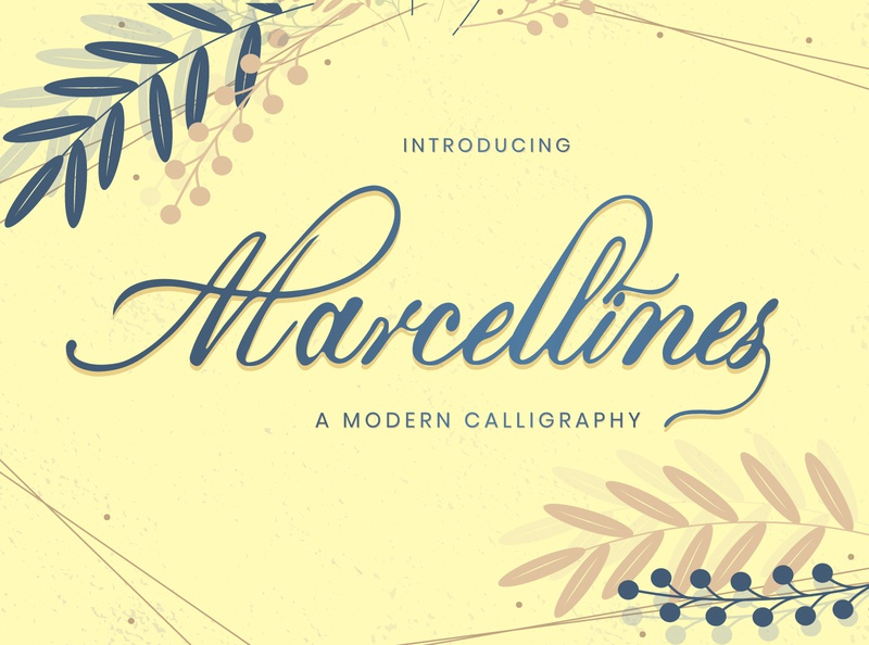 Marcellines A Modern Calligraphy Font creative design handwritten font signature font modern font font awesome minimalist font elegant font fashion logo logotype lettering handwriting font elegant classy font
