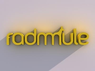 Radmule logo 3D radmule typography mule logotype tolgagorgun study-o 3d cinema4d