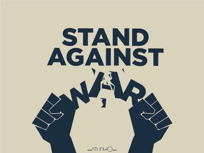 Stand Against War gezipark war antiwar typography c2a poster propaganda gezi turkish türk