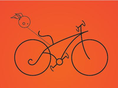 bicycle illustration illustration bike bicycle headwithtwings