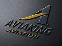 AviaKing Aviation Identity Design turkish designer tolga görgün tolgagorgun corporate identity branding luxury branding typography a letter a aviaking logotype aviation