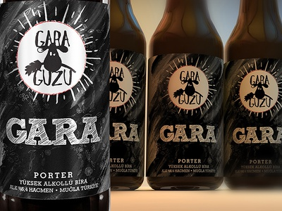 Gara Guzu GARA Porter Ale Label design bottle design tolgagorgun tolga görgün label label design ale garaguzu