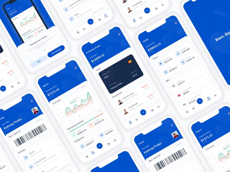 Finance App UI Concept banking app finance app ui design app