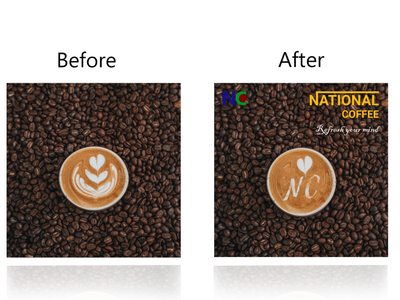 Creative design | LOGO and branding | National Coffee masking national coffee template design coffee design creative design creative logo adobe photoshop branding design logo
