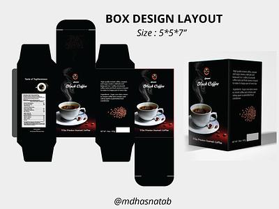 Box design layout black coffee   free package design guideline logo adobe photoshop illustrator cartoon box design coffee box design layout box design package design coffee packaing