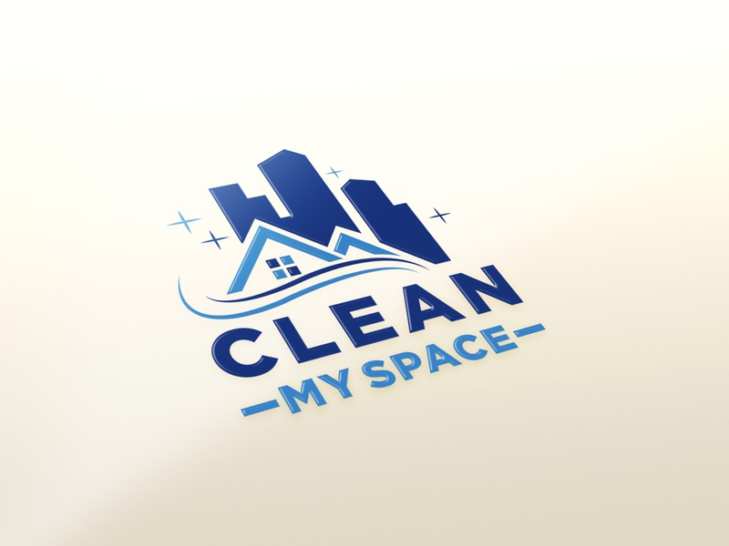 Clean My Space logos modern flat minimal illustration icon illustrator design vector logo design logo