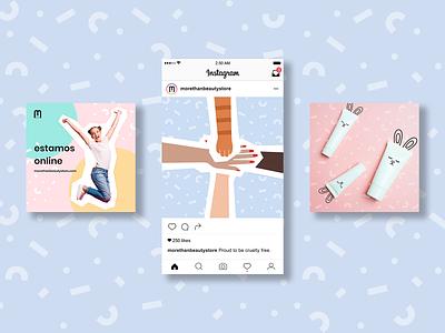 Social Media: More Than Beauty social media cosmetics beauty branding illustration design