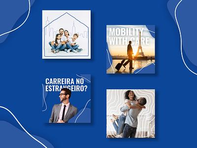 Social Media: Global International Relocation international mobility vector relocation social media branding