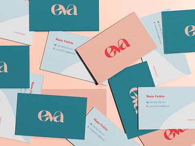 Branding Eva typography logo brand identity design branding