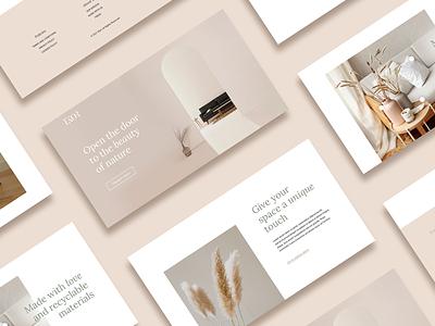 Landing Page Ekor decoration web design landing page ui brand graphic design brand identity design branding
