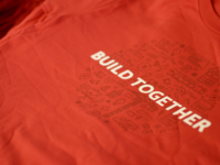 """Yelp """"Build Together"""" T-shirts"""