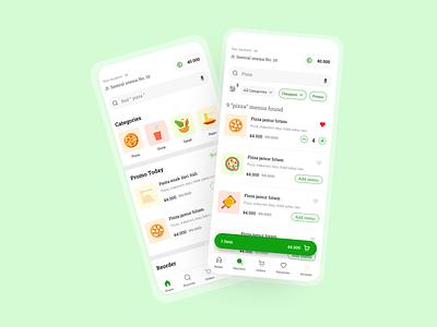 Pizza menu menu delivery food design home colorful ui mobile app