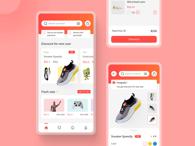 Ali Express Redesign online shop e commerce redesign detail page home ui mobile app
