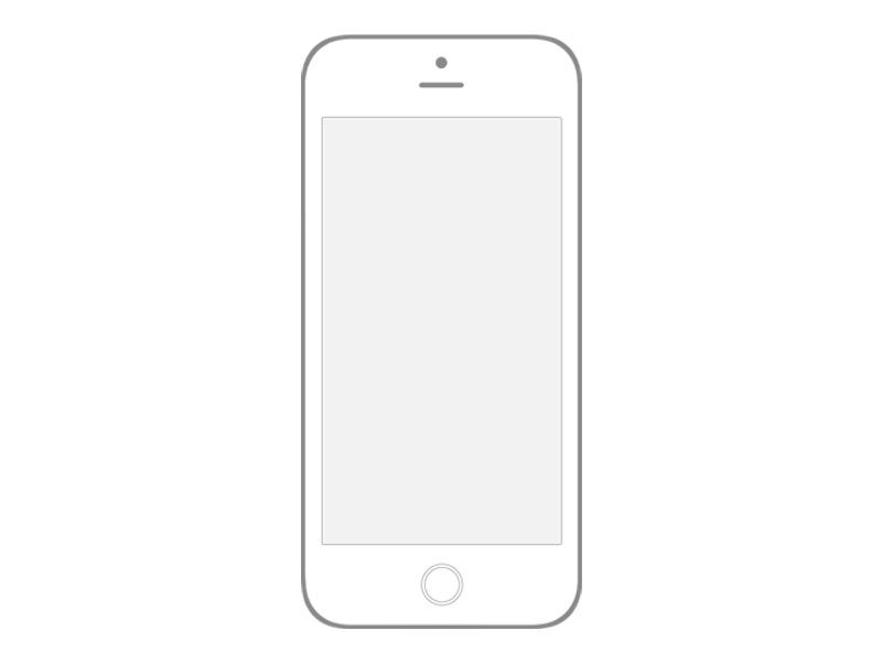 Transparent Iphone 6 Wireframe - PSD freebie wireframe mockup iphone6 psd sketch