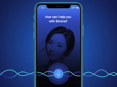 Mobile Voice Assistant alexa animation motion design ui dark app weather search voice assistant iphone ios mobile