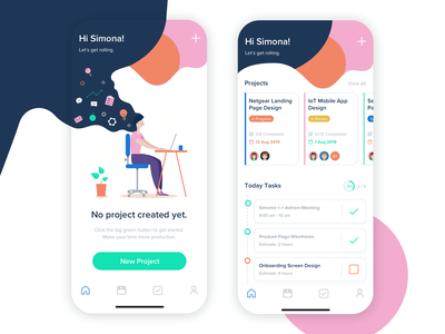 Project Management App business design board asana trello time empty ios mobile planning checklist schedule planner to do to do list task tasks project app management