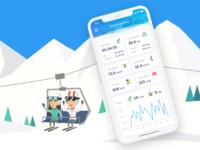 Ski training app