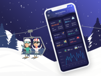 Skiing Mobile App Dark