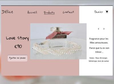 boutique de parfums_shot2 tresor figma parfum perfume frenchchic fragrance photography web ui design
