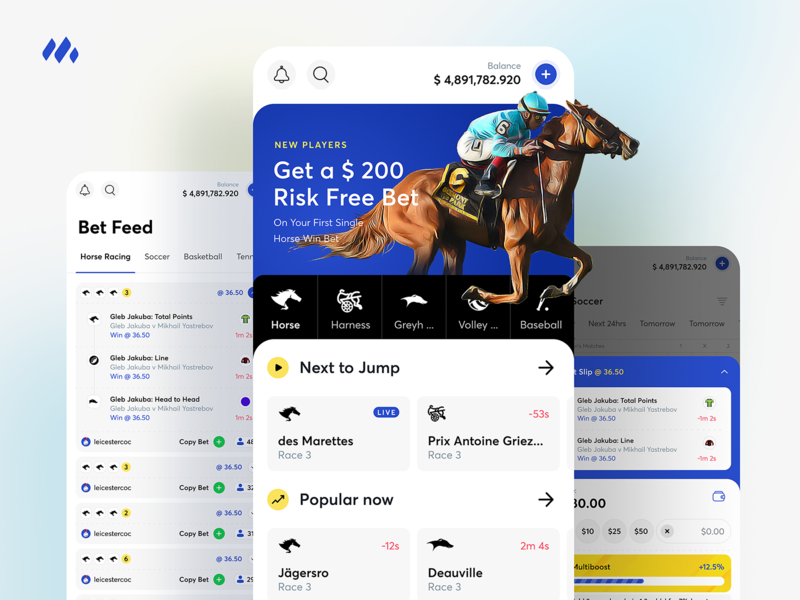 Moneyball ui mobile design coingaming appdesign horse racing horse app betting
