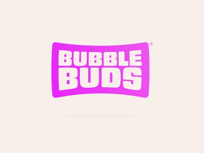 BubbleBuds soft float identity buds squeeze squish bubble logo