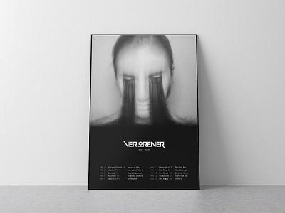 Verlorener Tour Poster 2020 gothic eyelashes music tour verlorener poster