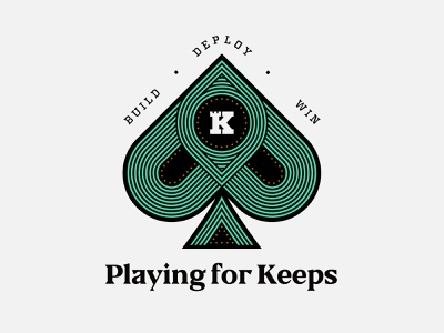 Playing for Keeps ace win card poker game build play spade keep branding illustration icon brand mark identity logo