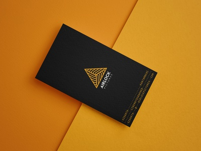 Airlock Business Card Mock airlock movie cinema triangle identity brand businesscard logo