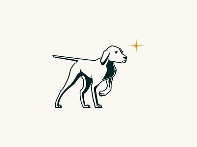 Tally Ho branding star pointer hound dog illustration brand mark identity logo