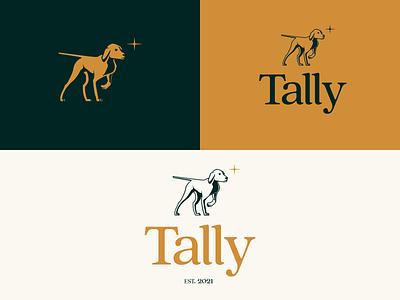 Tally Logo hunt tallyho tally dog star crypto hound branding illustration brand mark identity logo